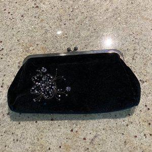 Black evening clutch purse